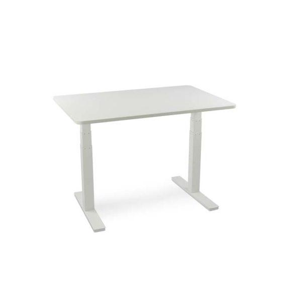 Walkdesk höj- och sänkbart bord med vit bordsskiva